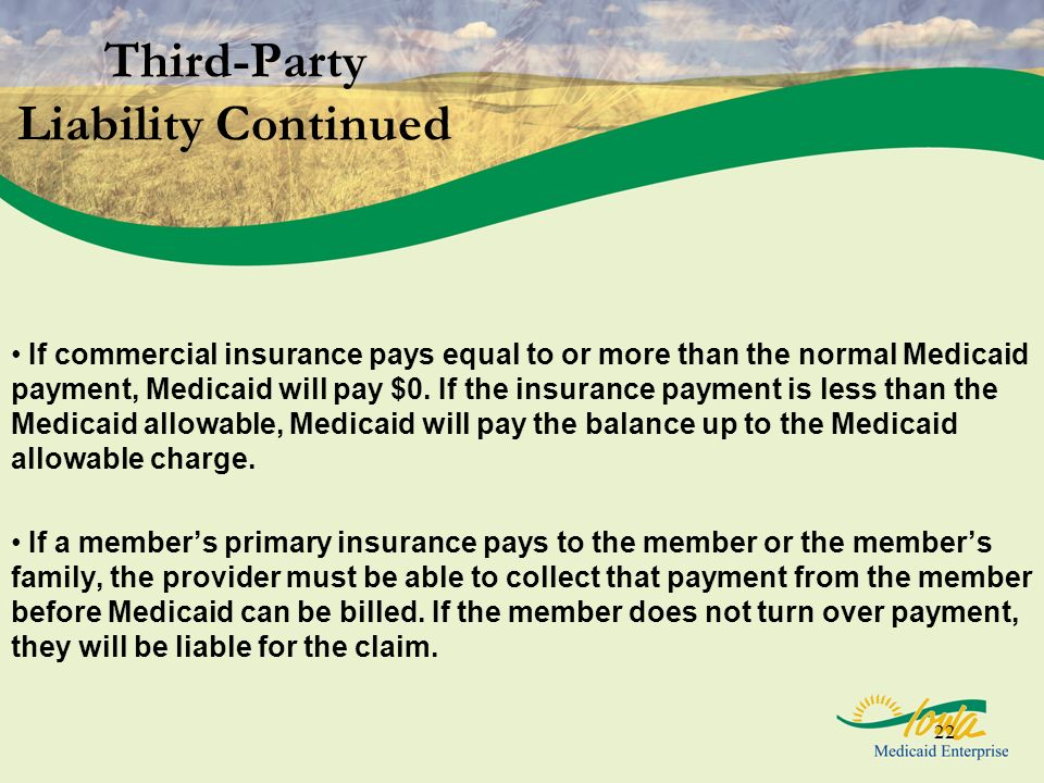 Third-Party Liability Continued