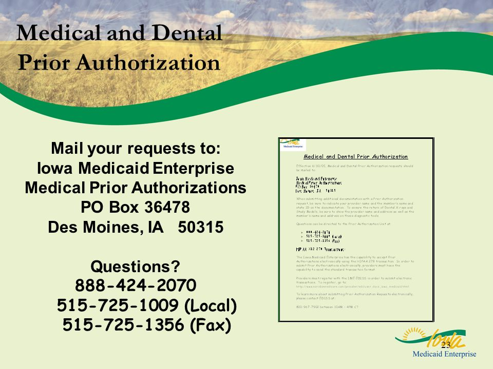 Medical and Dental Prior Authorization