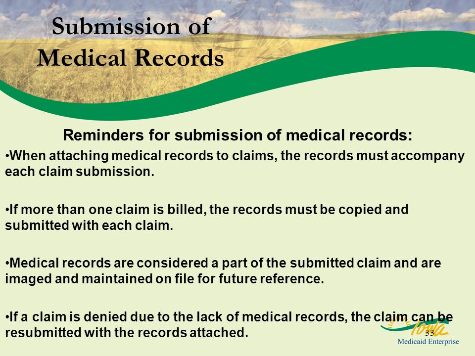 Submission of Medical Records