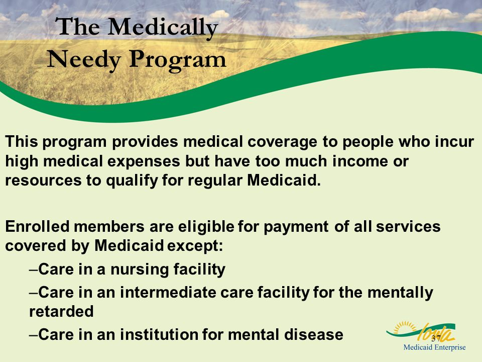 The Medically Needy Program