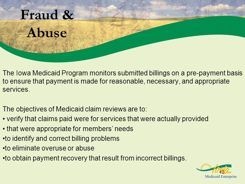 Fraud & Abuse