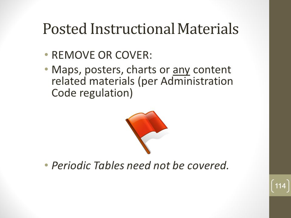 Posted Instructional Materials
