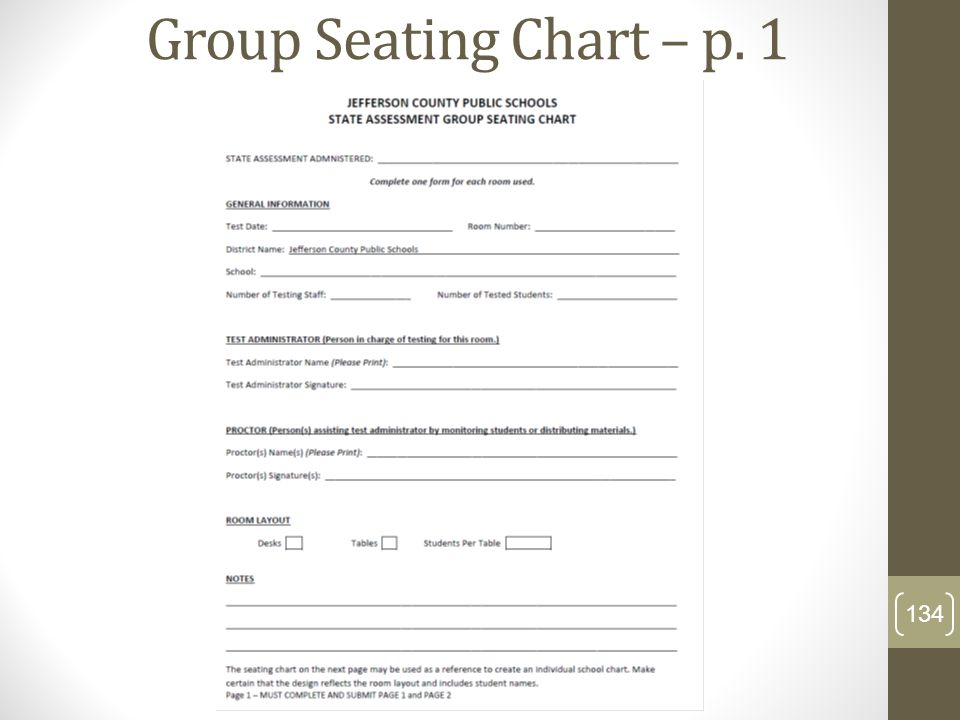 Group Seating Chart – p. 1
