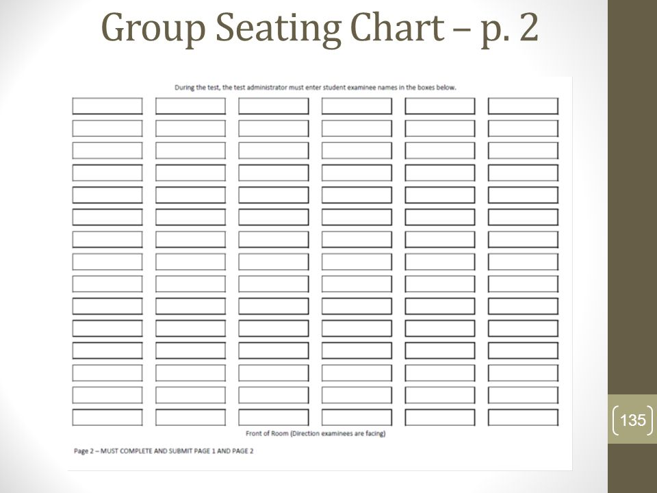 Group Seating Chart – p. 2
