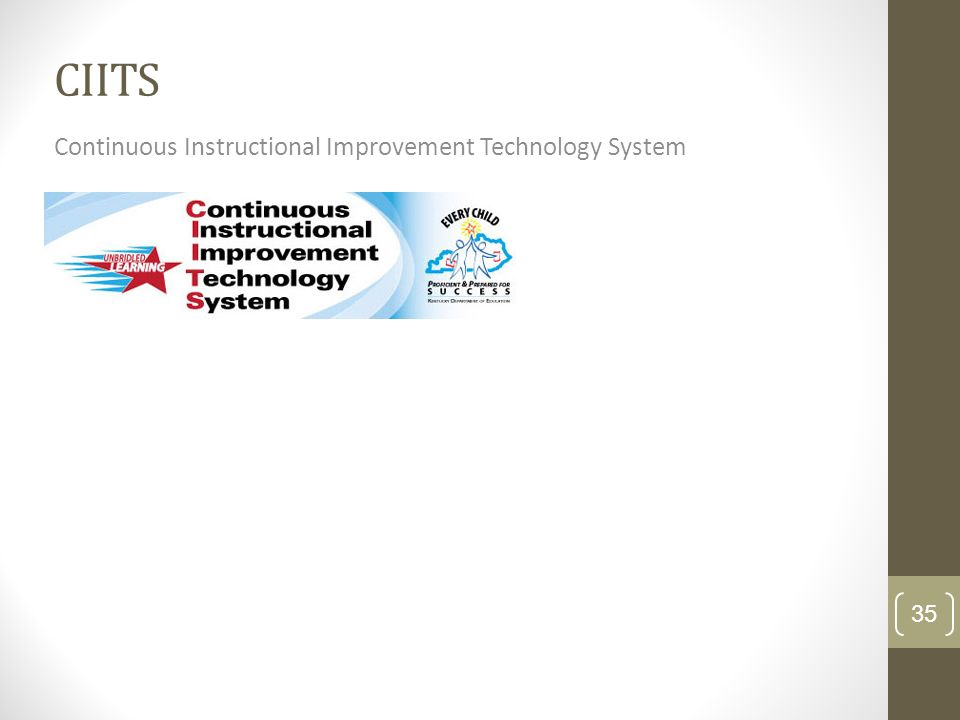 CIITS Continuous Instructional Improvement Technology System 35