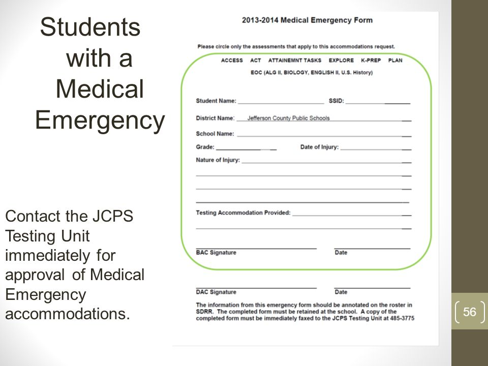 Students with a Medical Emergency