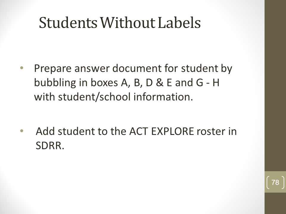 Students Without Labels