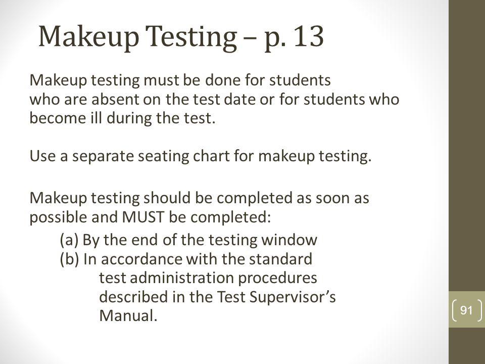 Makeup Testing – p. 13