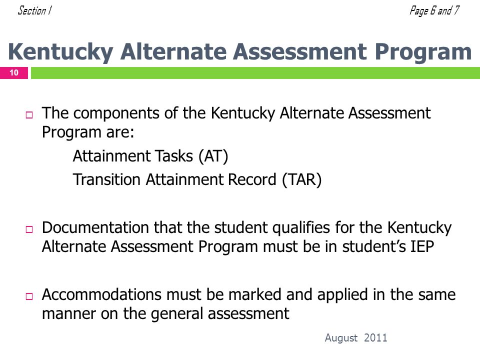 Kentucky Alternate Assessment Program