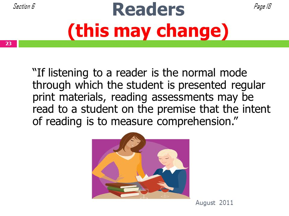 Readers (this may change)