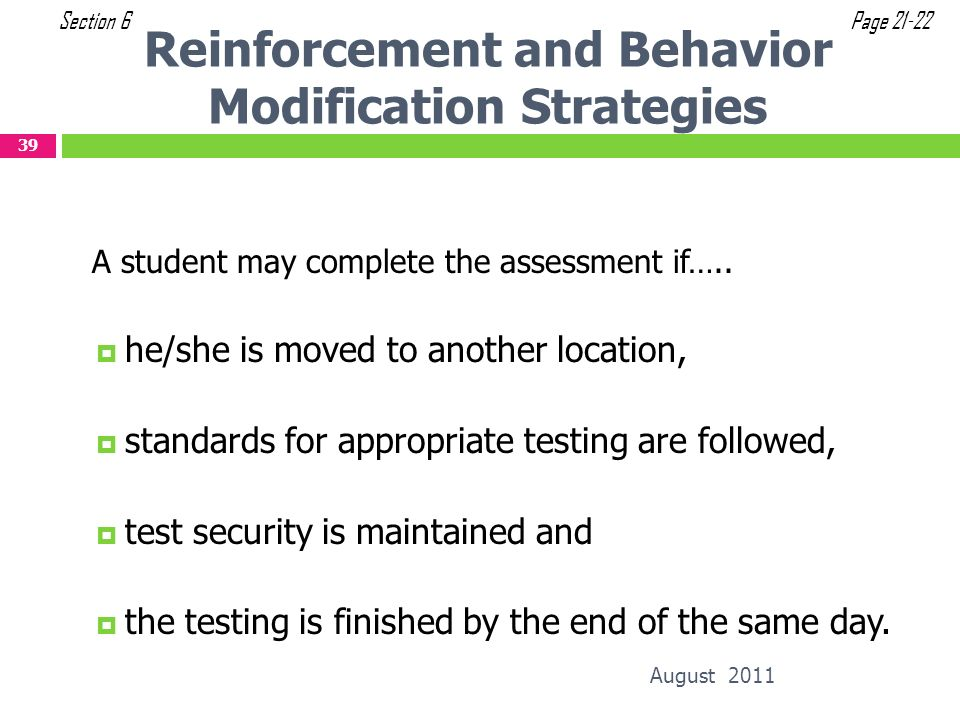 Reinforcement and Behavior Modification Strategies
