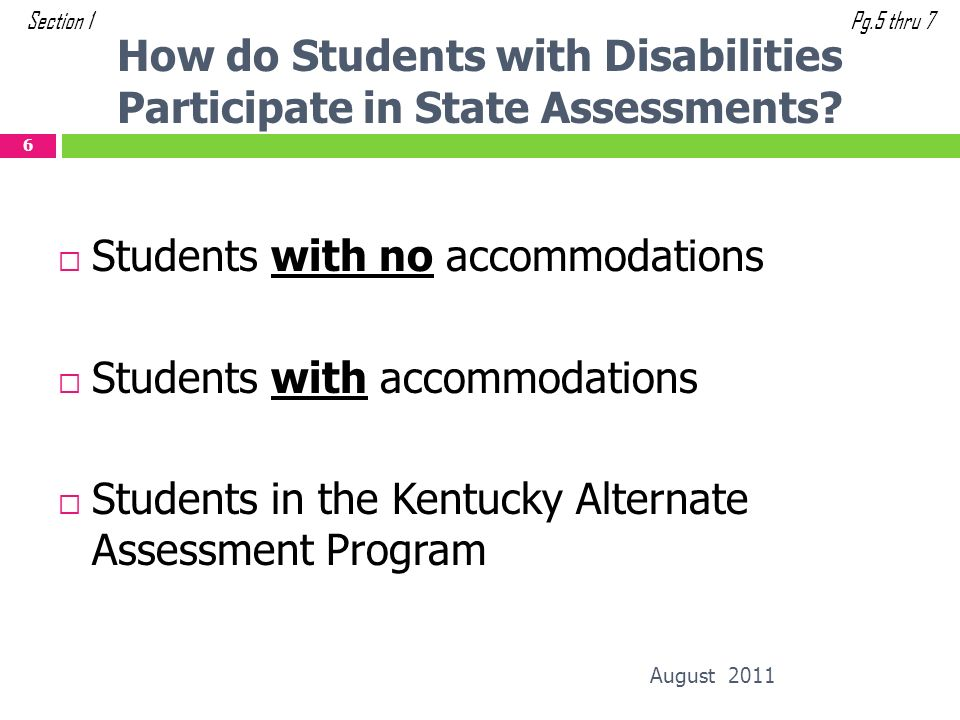 How do Students with Disabilities Participate in State Assessments