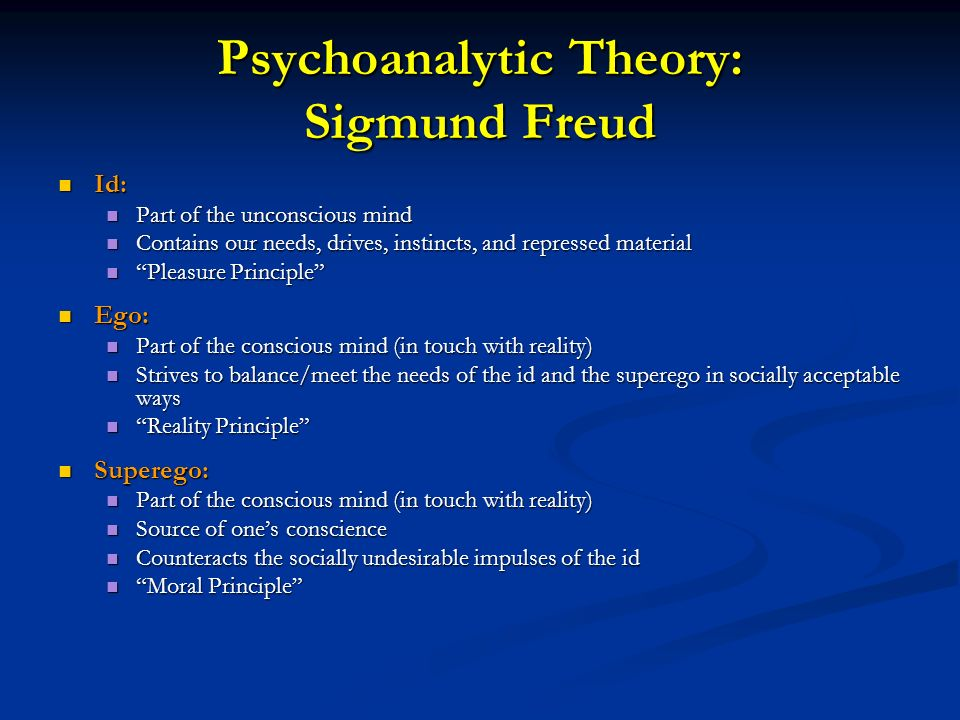 psychoanlytic theory In this lesson, we will focus on the definition of psychoanalysis, discuss freud's theory of psychoanalysis, and delve into the concepts behind his.