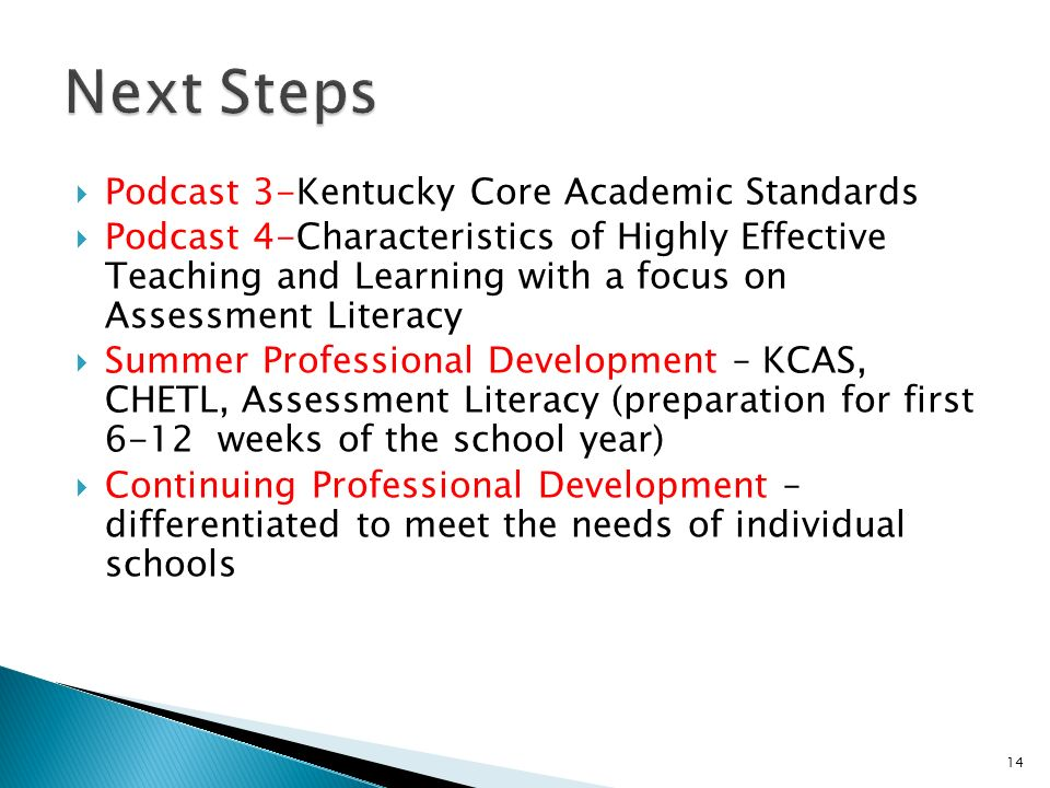 Next Steps Podcast 3-Kentucky Core Academic Standards