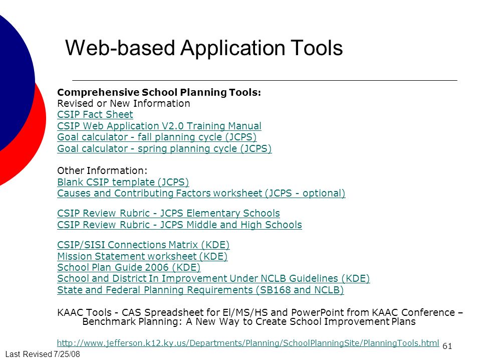 Web-based Application Tools