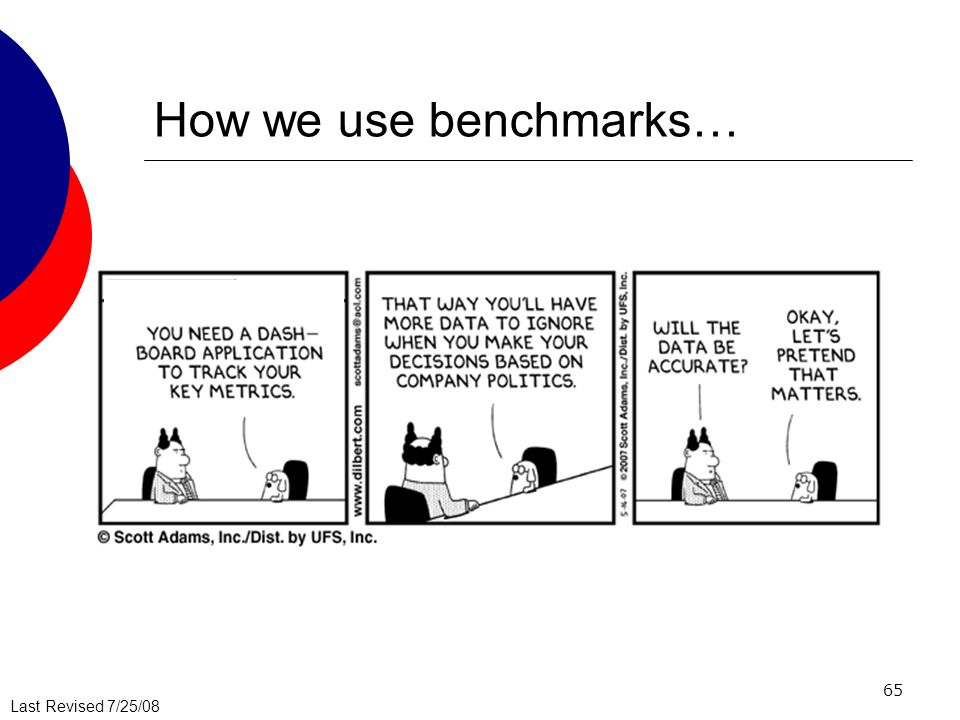 How we use benchmarks…