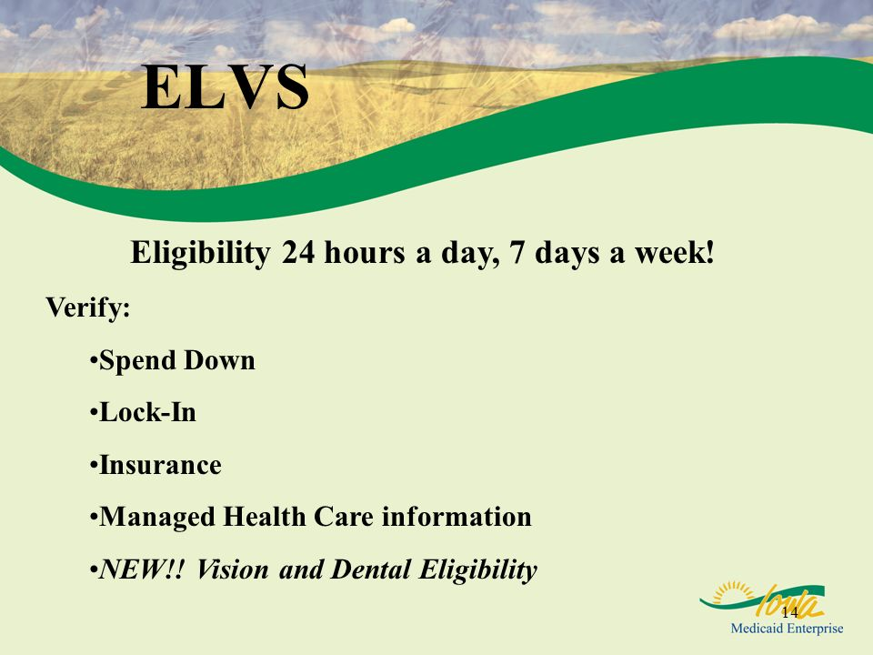 Eligibility 24 hours a day, 7 days a week!