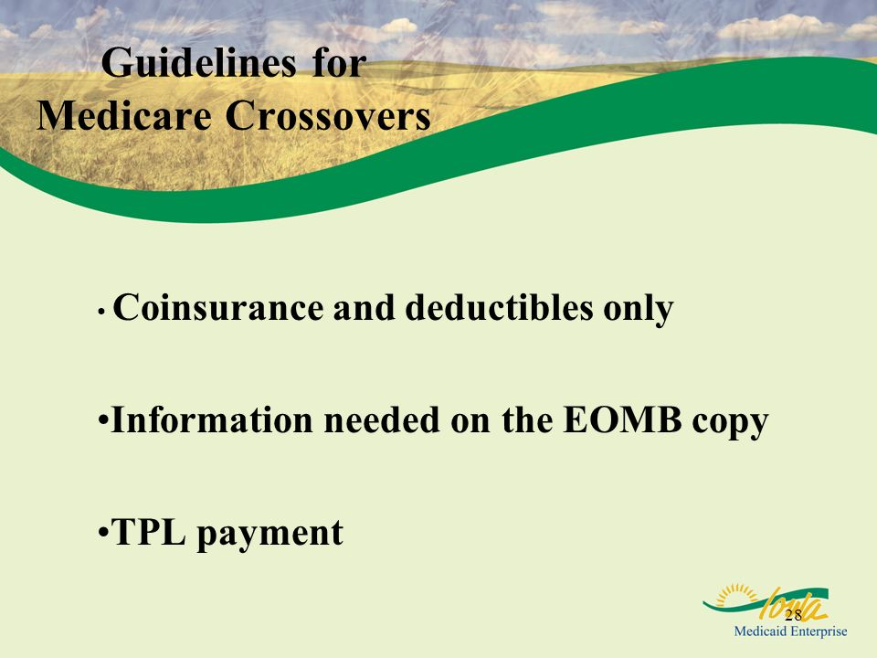 Guidelines for Medicare Crossovers