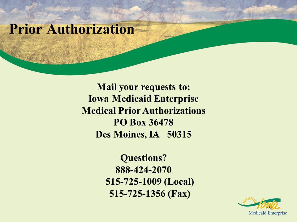 Iowa Medicaid Enterprise Medical Prior Authorizations