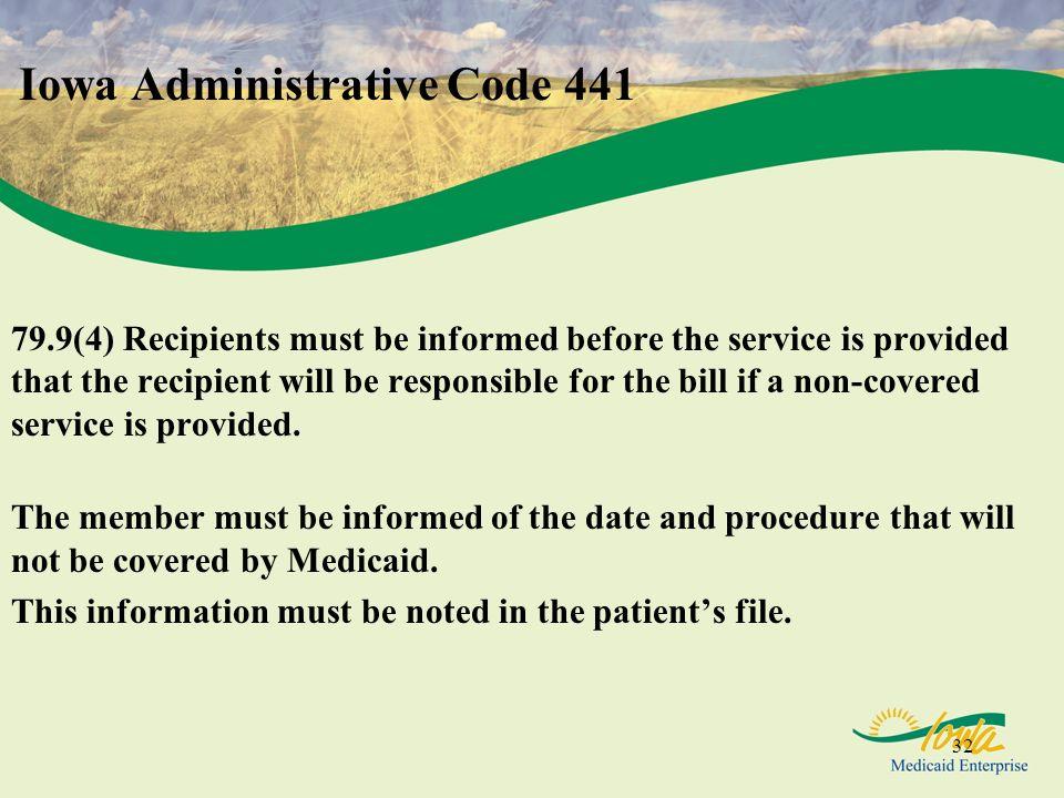 Iowa Administrative Code 441