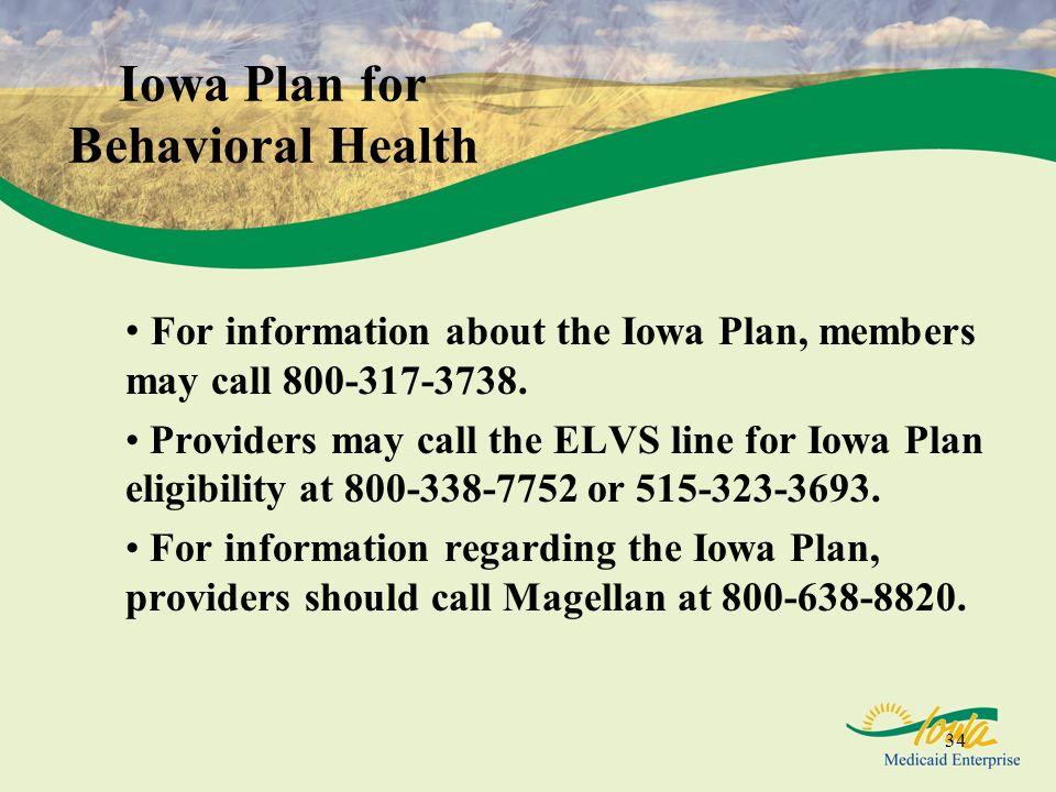 Iowa Plan for Behavioral Health