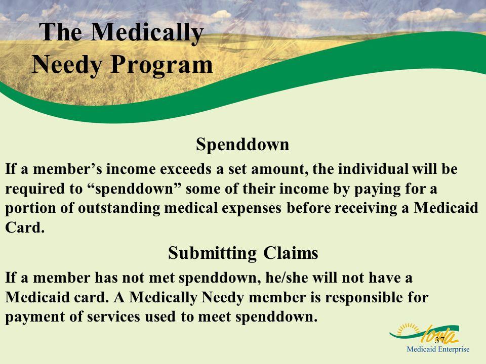 The Medically Needy Program