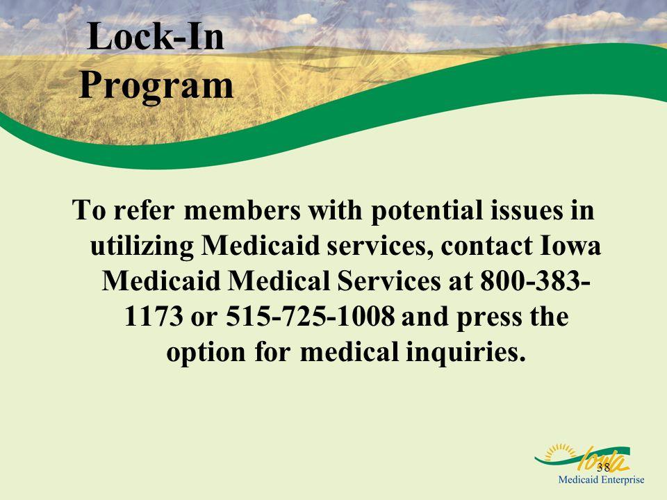 Lock-In Program
