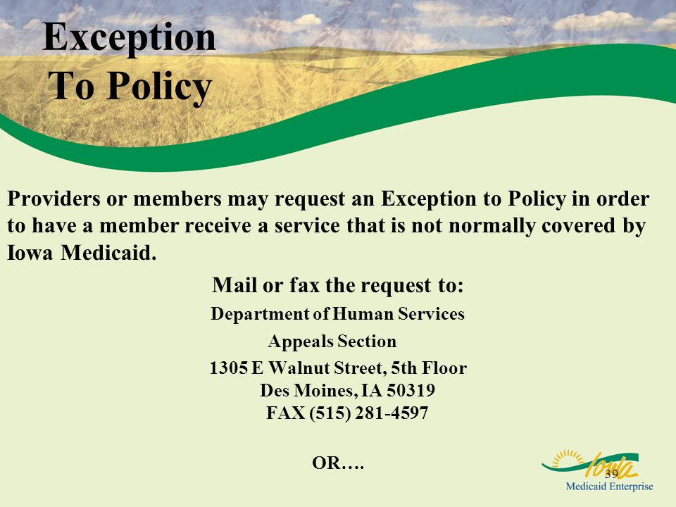 Mail or fax the request to: Department of Human Services