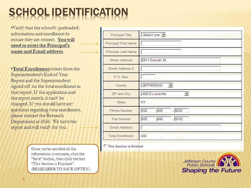 School Identification