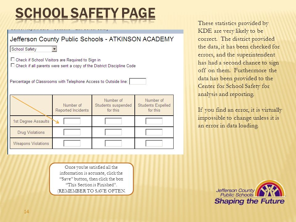 School Safety Page