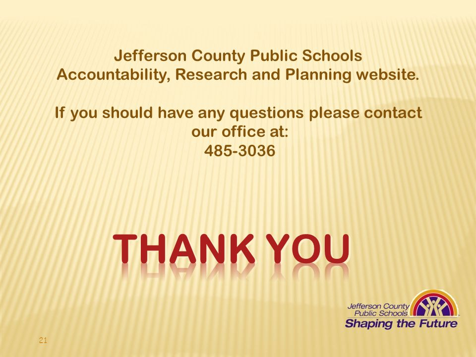 Thank YOU Jefferson County Public Schools