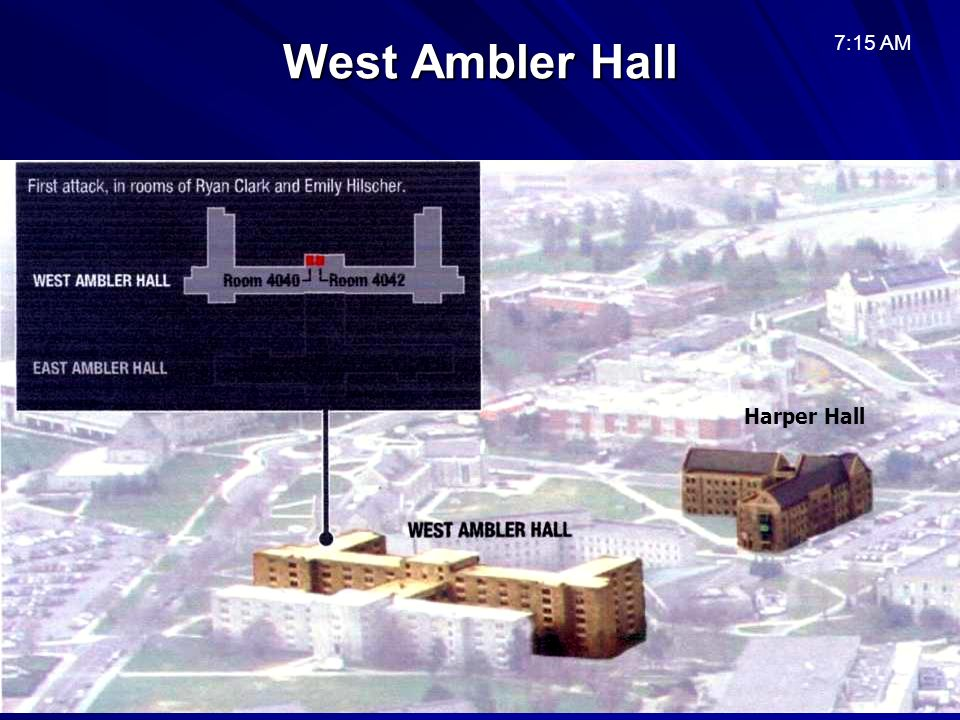 West Ambler Hall 7:15 AM Harper Hall