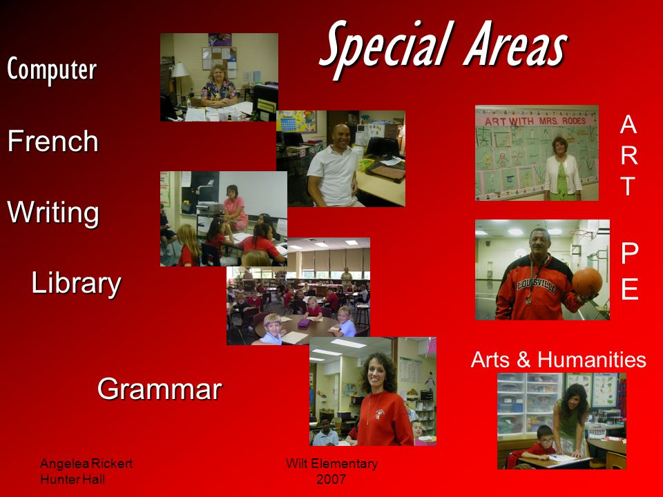 Special Areas Computer French Writing Library Grammar P E A R T