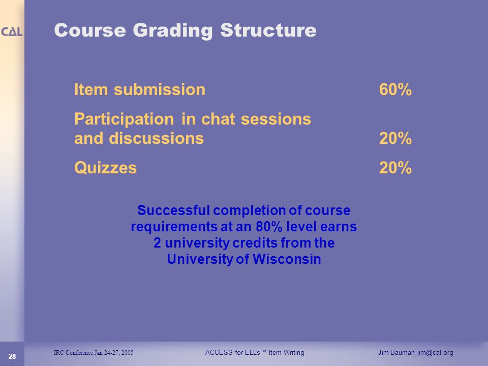 Course Grading Structure