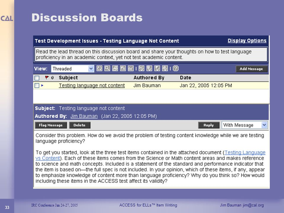 Discussion Boards 33