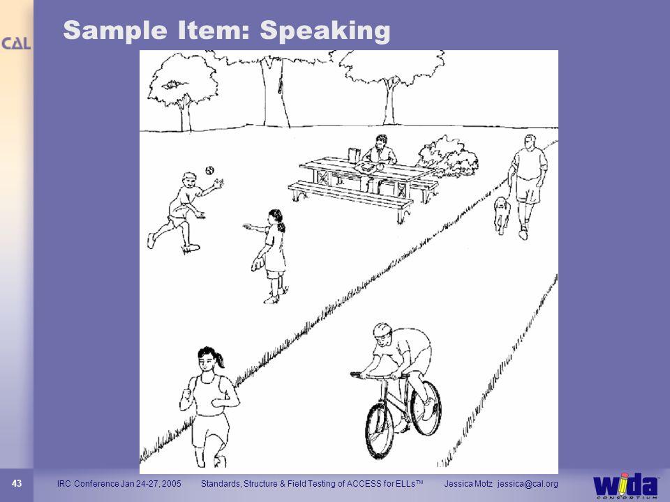 Sample Item: Speaking 43