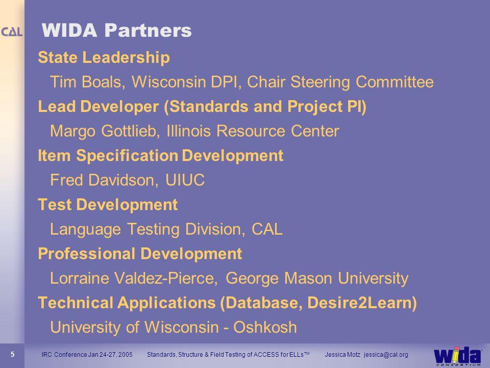 WIDA Partners State Leadership