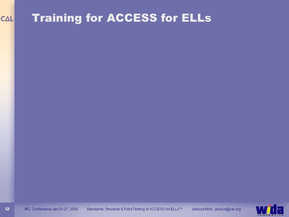 Training for ACCESS for ELLs