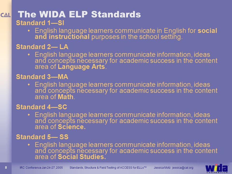 The WIDA ELP Standards Standard 1—SI