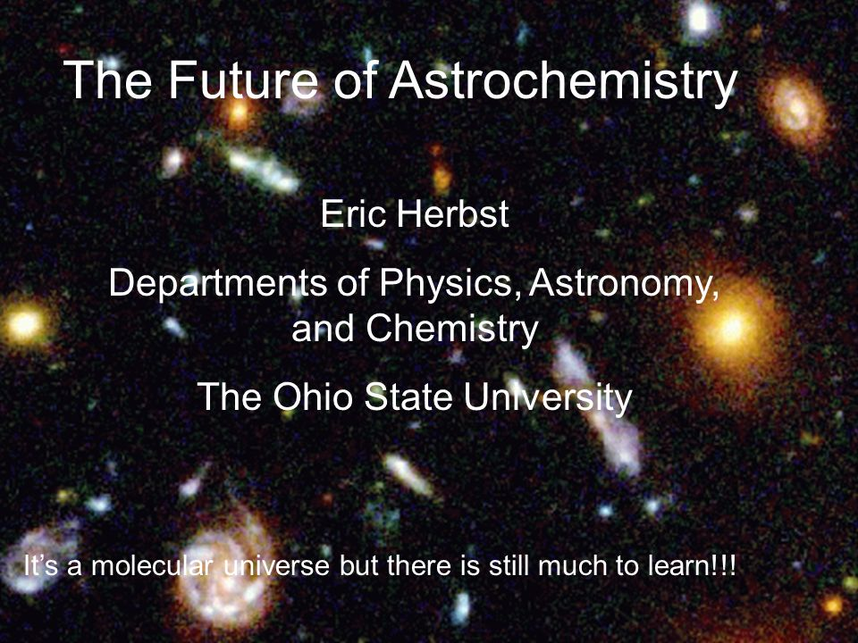 The Future of Astrochemistry