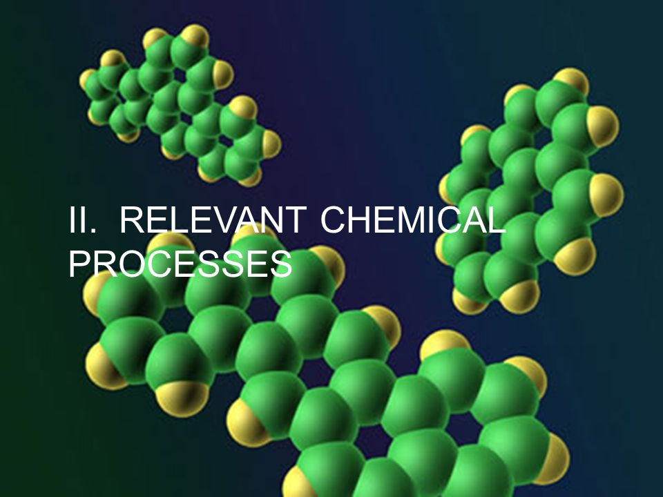 II. RELEVANT CHEMICAL PROCESSES