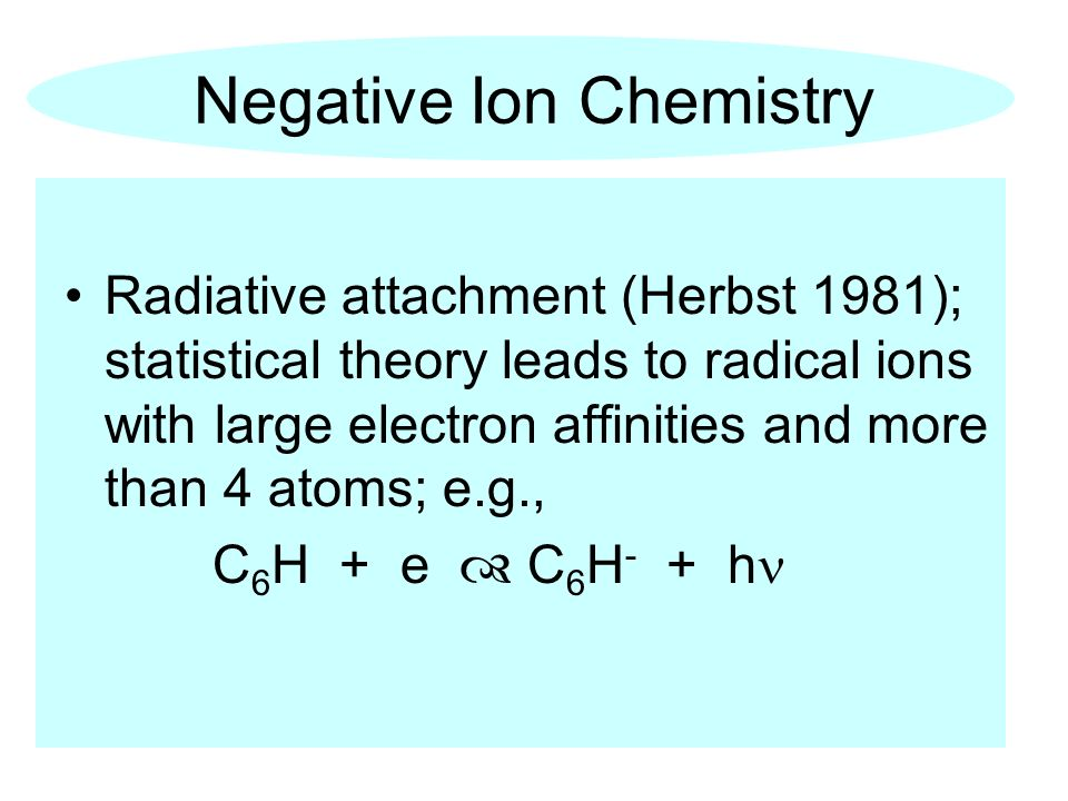 Negative Ion Chemistry