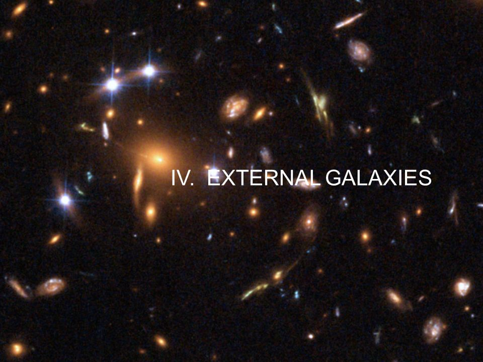 IV. EXTERNAL GALAXIES
