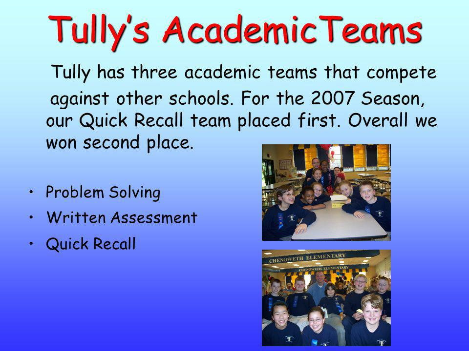 Tully's AcademicTeams