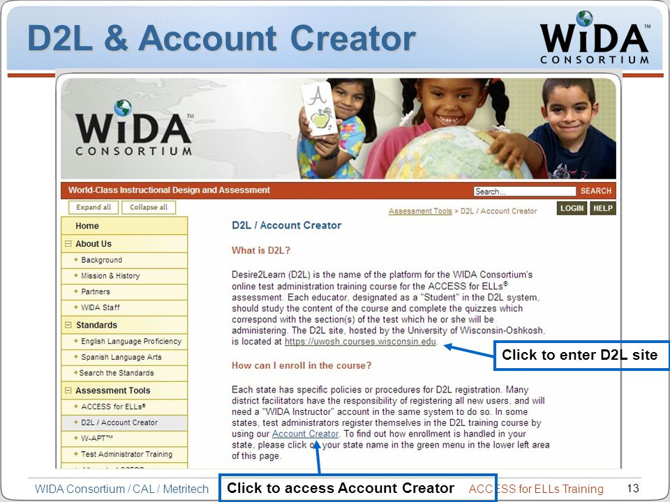 D2L & Account Creator Click to enter D2L site