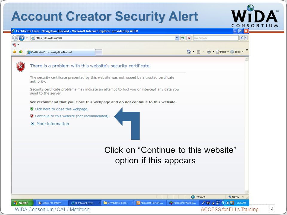 Account Creator Security Alert