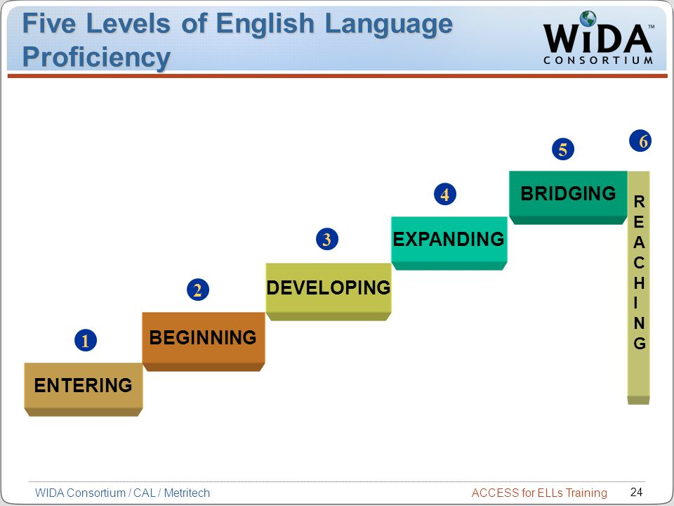 Five Levels of English Language Proficiency