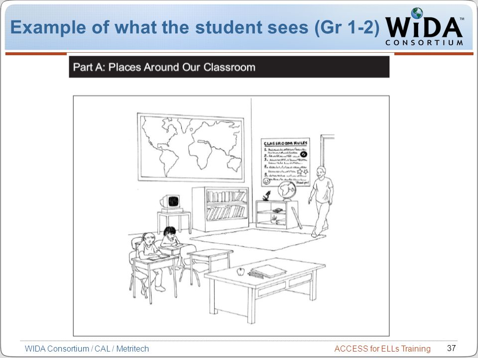 Example of what the student sees (Gr 1-2)