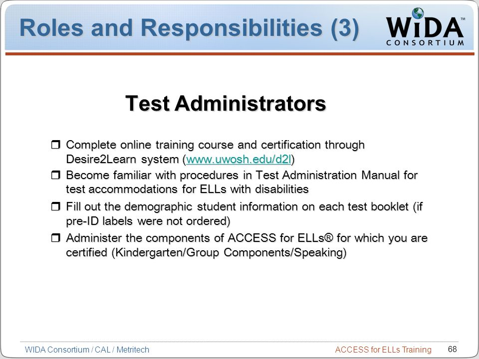 Roles and Responsibilities (3)