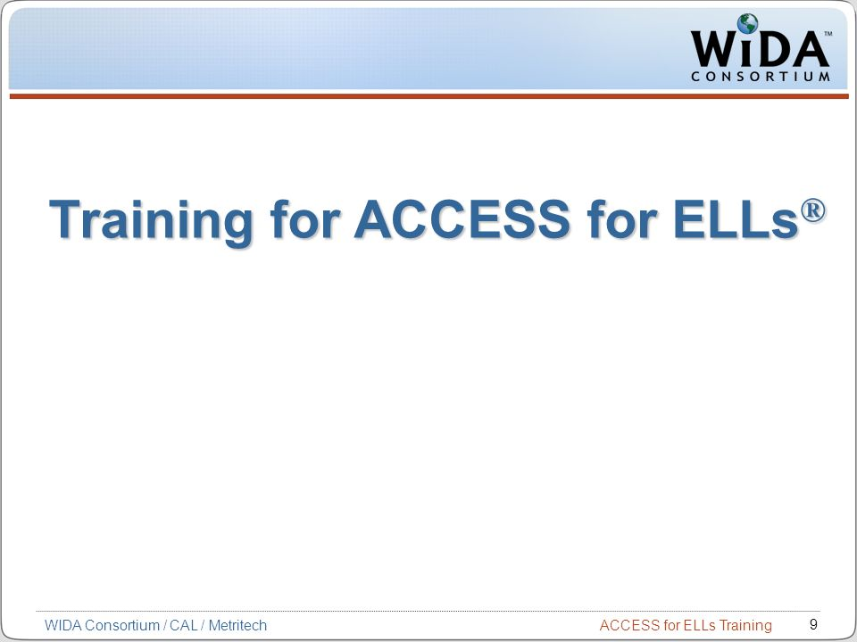 Training for ACCESS for ELLs®